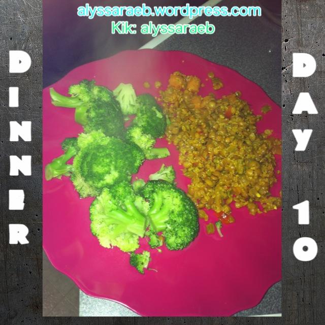 Day 10: Dinner