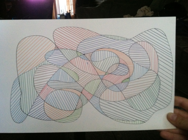 Lines with Colored Pens