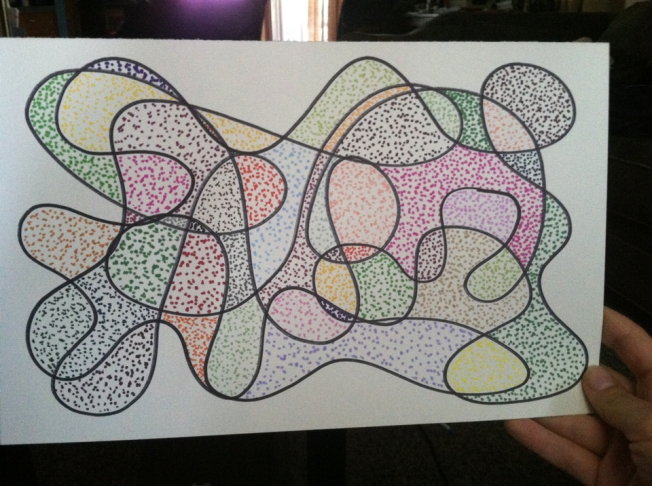 Dots made with Colored Sharpie Markers