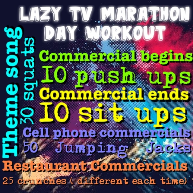 Lazy Tv Workout